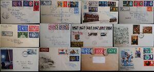 GB QEII FDC 1953 -1969 Pre Decimal Commemorative Registered Plain Stuart Fm 99p