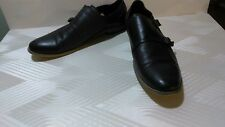 MEN'S TO BOOT New York Brooklyn DOUBLE MONK STRAP CAP TOE BLACK  Size7.5M @C