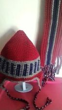 Hand Crochet Hat &  Scarf Set~ Teen/ Adult Size