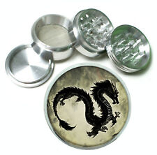 Chinese Dragon Rs1 Themed Aluminum Herb Grinder 63mm 4 Piece Hand Mueller