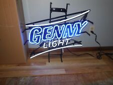 (L@K) Genesee Beer Genny Neon Light Up Bar Pub Sign Game Room Man Cave Rare Ny
