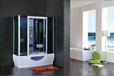 1500mm x 850mm NEW 2020 STEAM SHOWER CUBICLE ENCLOSURE Whirlpool BATH CABIN