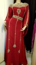 Dubái Georgette Marroquí Zari Embrodery Caftán Trabajo Abaya Ms 2020