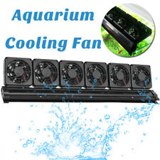 Aquarium Cooling Fan Water Fish Tank Cold Cool Wind Chiller 6 Heads 12