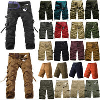 Mens Cargo Shorts Combat Work Military Camouflage Army Pants Leisure Trousers