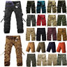 Men Cargo Half Pants Shorts Trousers Casual Military Camo Combat Army Work Wear