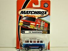 MATCHBOX VOLKSWAGEN VW TRANSPORTER VAN BUS WITH OPEN ROOF NEW IN 2000 PACKAGE