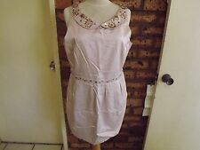 Forever New Beaded Just Above The Knee Dress sz 16
