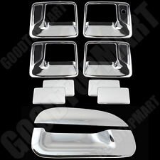 FOR FORD 99-07 F250/350 SUPER DUTY Chrome 4DR Handle wPSKH+Tailgate Cover w/oKH
