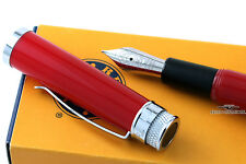 Retro 51 Tornado Red Fountain Pen - Medium Iridium Nib - Rare