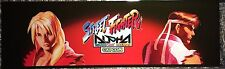 "Street Fighter Alpha Arcade Marquee 26""x8"""