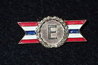 WW2 Home Front US Army Navy E Excellence Award Pin 'Sterling' Small Format VG+