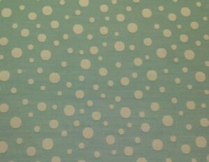 "WAVERLY ROCK N SPOTS TEAL AQUA CREAM JACQUARD MULTIUSE FABRIC BY THE YARD 55""W"
