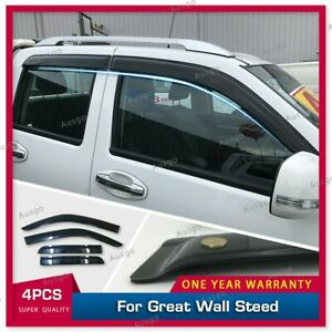 AUS Luxury Weather Shields Weathershields Door Visors for Great Wall Steed 2016+