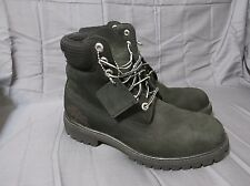 "Men's Timberland 6"" Scripted Logo Black Hiking/Work Boots 6061A - Size 8 NICE!!!"