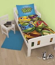 Teenage Mutant Ninja Turtles HALF SHELL HEROES Junior Toddler Cot Bed Duvet Set