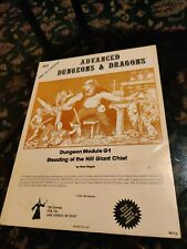 Vintage 1978 - Dungeons & Dragons Dungeon Module G1 - Steading of the Hill Giant