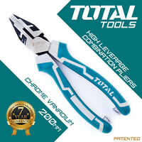 Total Tools COMBINATION PLIERS  Heavy Duty, Side Cutters High Hand Leverage