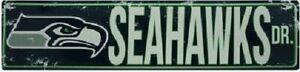"Seattle Seahawks NFL Seahawks Drive ""Distressed"" Metal Street Sign"