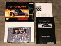 Top Gear Super Nintendo Snes Complete CIB Excellent Condition Authentic