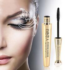 4D Fiber Schwarz Lang Lasting Makeup Wimper Wasserdicht Maskara Kosmetik Gift-de