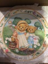"Enesco Cherished Teddies ""Jack And Jill Nursery Rhyme"" Plate - #114901"