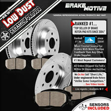 Front & Rear DRILLED SLOTTED BRAKE ROTORS AND CERAMIC PADS 2006 BMW 330i E90 2WD