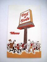 "Happy Vintage Menu ""Dog n Suds"" In Arlington, Illinois  *"