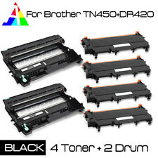 6 PK DR420 TN450 Drum and Toner Set For Brother HL-2270 DW MFC-7460N DCP-7065DN