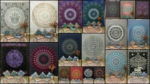 Wall Hanging Wonderful Design Cotton Fabric Queen Size Tapestry Bedspread Indian