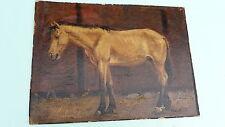 Gemälde Akademie Maler Wilhelm Sohn 1829-1899 - Bildnis eines Pferdes / Pferd
