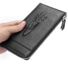 Crocodile Men's Wallet Long Genuine Leather Zipper Business Clutch card holder