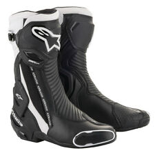 Alpinestars SMX Plus v2 Motorcycle Motorbike Sports Boots Black White