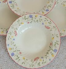 Johnson Brothers Bros Summer Chintz Rim Soup Bowls Floral China England Set of 4