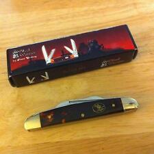 Steel Warrior Imitation Tortoise Congress Pocket Knife NIB SW-115ITS