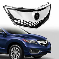 Chrome & Painted Front Grille Assembly For 2016 2017 2018 Acura RDX