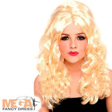 Blonde Curly Beehive Celebrity Wig Ladies Fancy Dress 1960s Costume Accessory