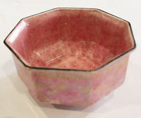 Antique A&S Arcadian Iridescent LUSTRE WARE Pink Art Deco Bowl
