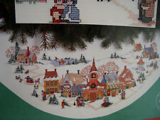 Dimensions Christmas Counted Cross Tree Skirt Holiday Kit,DAYS OF OLDE,8431,45""