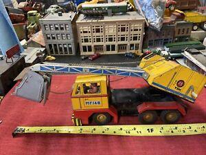 Vintage Toy, Tin Litho l Steam Shovel / Crane / Scoop Construction Vehicle LOOK