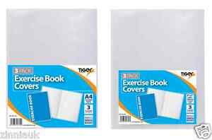 Book Cover 3 Clear Protective Sleeves School Note Text Exercise Book Cover Tiger