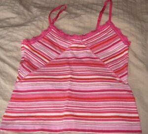 NWT Victoria's Secret Pink Cotton Blend Cami Pink Stripes sz S