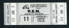 1986 R.E.M. unused full concert ticket Jackson MS Lifes Rich Pageant Cuyahoga