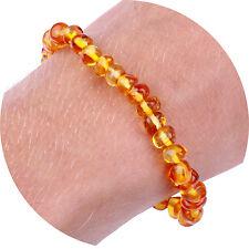 """Adult Baltic Amber Bracelet / Anklet for Women & Men (Unisex - Honey - 7.5"""")"""