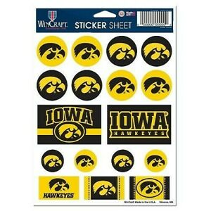 Iowa Hawkeyes Vinyl Die-Cut Sticker Set / Decal Sheet *Free Shipping