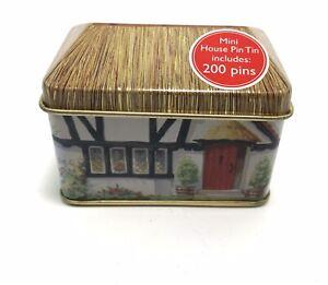 Cath Kidston Black & White Cottage House Tin Of Pins