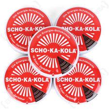 SCHO-KA-KOLA Allemand haute Caffine Chocolat Noir Énergie Boost Cola Tin Set de 5
