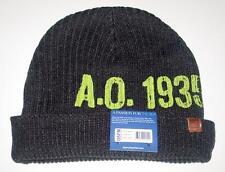 NWT Licensed Sperry Top-Sider Original 1935 Dual Beanie Hat Black MSP $30   CR