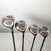 Set of 4 Mitsushiba Mirage Stainless Golf Club Drivers RH (D/3/5/7) Power Cache