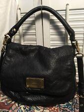 Marc by Marc Jacobs Classic Q Lil Ukita Leather Shoulder Crossbody Handbag BLACK
